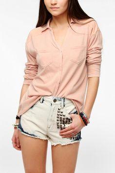 Ecote Night Hawk Knit Surplus Shirt  #UrbanOutfitters