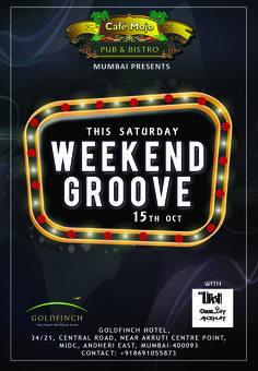 Turn up and get your groove on at the Weekend Groove party this Saturday only @ Café Mojo Mumbai. #NightLife #Pubs #Party #Beer #Fun #Beers #Enjoy #GoodTimes #OntheBar  #Parties #PartyMusic #DrinkLocal #Music #Dance #Pub #Drinks #EatLocal  #BeerDrinks #Mumbai  #OnthePub