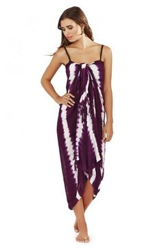 Tie Dye Striped Sarong Cover Up from Bridget's Boutique