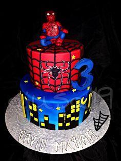 Spiderman Cake Man Cake, Cakes For Men, Spiderman, Birthday Cake, Desserts, Food, Pies, Spider Man, Tailgate Desserts
