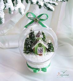 """Купить Новогодние интерьерные шары """"Рождественские Домики"""" (d-12 cм) - подарки и сувениры"""