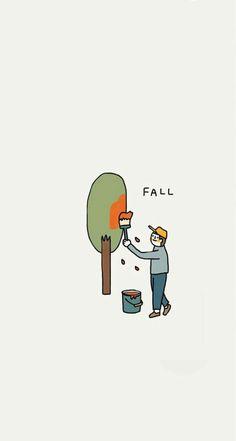 Paint it all in orange. Graphic Wallpaper, Aesthetic Iphone Wallpaper, Cartoon Wallpaper, Aesthetic Wallpapers, Animes Wallpapers, Cute Wallpapers, Wallpaper Backgrounds, Autumn Illustration, Graphic Design Illustration
