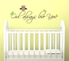 Children Owl Wall Decal for Nursery