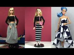 Hi guys, I am doing your requests one by one and this one is related with Barbie Clothes Life Hacks. In this video I will be doing Top 5 DIY Ideas For Barbie. Barbie Et Ken, Barbie Dolls Diy, Barbie Dress, Diy Doll, Sewing Barbie Clothes, Barbie Sewing Patterns, Doll Clothes Patterns, Diy Clothes Life Hacks, Accessoires Barbie