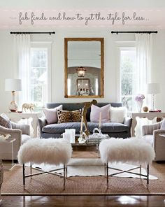 """""""Fab finds and how to get the style for less"""" by the Burlap and Crystal blog!"""
