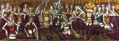 Les Folles: La mariée, huile sur toile, 210 x 600 cm, 1970. Musée Bernard Buffet.