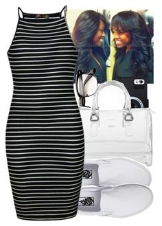 """""""."""" by aribearie ❤ liked on Polyvore featuring Furla, Vans and Ally Fashion"""