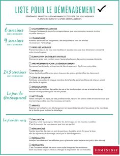 Check-list déménagement