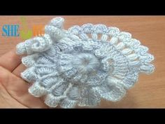 Crochet Freeform Scrumble Tutorial 2 Part 1 of 2 Freeform Crochet Flower - YouTube