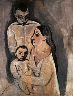 (1906) Homme,femme, et enfant Pablo Picasso