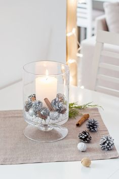 Simple Christmas, Christmas Diy, Christmas Decorations, Table Decorations, Napkin Folding, Christmas Stockings, Centerpieces, Candle Holders, Table Settings