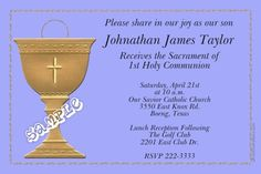 Communion Chalice Invitations ALL COLORS - Digital Download - Get these invitations RIGHT NOW. Design yourself online, download and print IMMEDIATELY! Or choose my printing services. No software download is required. Free to try! Holy Communion Invitations, Christening Invitations, Holy Saturday, Diy Invitations, Printing Services, All The Colors, Color Schemes, Software, Joy