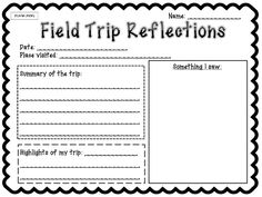 1000 images about field trip forms idea on pinterest field trips narrative writing and trips. Black Bedroom Furniture Sets. Home Design Ideas