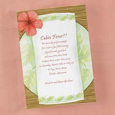 Tropical Place Setting - Party Invitation - Bright White