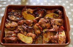 Lapin rôti au four qui cuit tout seul Meat Recipes, Crockpot Recipes, Cooking Recipes, Healthy Recipes, Rabbit Recipes, Food Blogs, Food Videos, Rabbit Food, Food Inspiration