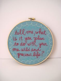 tell me..