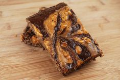 Homemade protein bars - Chocolate Peanut Butter Swirl Protein Bars