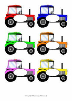 Pupil Self-Registration Tractors Preschool Farm Crafts, Preschool Name Tags, Classroom Name Tags, Classroom Themes, Tractor Crafts, Self Registration, Letter Sound Activities, Race Car Themes, Schedule Cards