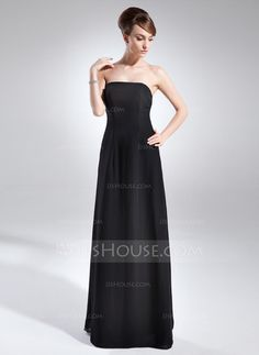 Vestidos de madrina - $118.99 - Corte A/Princesa Estrapless Vestido Chifón Vestido de madrina (008015710) http://jjshouse.com/es/Corte-A-Princesa-Estrapless-Vestido-Chifon-Vestido-De-Madrina-008015710-g15710