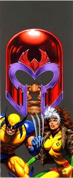 Wolverine & Rogue by Bob Larkin