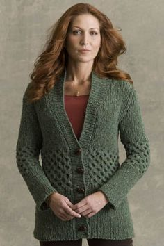Shakespeare Cardigan in DONEGAL TWEED