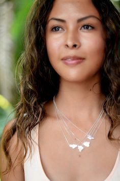 Sterling silver Hawaii island necklaces. By Kahili Creations.