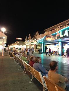 On the boardwalk Ocean City MD.  yep, love sitting on the benches , people watching