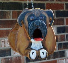 Hey, I found this really awesome Etsy listing at https://www.etsy.com/listing/175548621/boxer-dog-birdhouse-or-bird-feeder