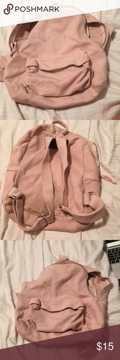 Pink brandy Melville backpack Used brandy backpack with some stains but can be washed Great backpack Brandy Melville Bags Backpacks