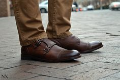 I just came.... Johnston & Murphy Double Monk Strap shoes. Source