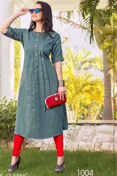 #kurti #designkurti #partywearkurti #kurtisupplier  #kurtiwholesaler #lkfabkart  whatsaap no:-9377709531 Plain Kurti Designs, Simple Kurti Designs, Kurta Designs Women, Kurti Neck Designs, Dress Neck Designs, Blouse Designs, Design Of Kurti, Outfits Otoño, Fashion Outfits
