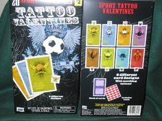 Sport Tattoo Valentines (20) by Mello Smello. $3.97. 20 tattoo valentines. 8 different card designs