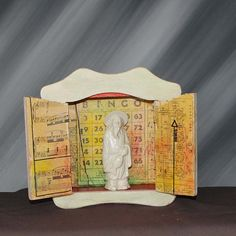 Beautiful art from Diana LaMorris an Etsy listing at https://www.etsy.com/listing/254421908/nicho-shrine-confucius-wall-hung-altar