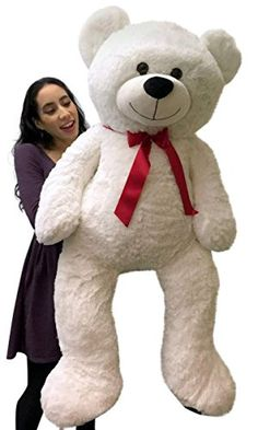 Giant Teddy Bear 48 Inch White Soft Premium Quality 4 Foot Big Teddybear *** Check this awesome product by going to the link at the image.