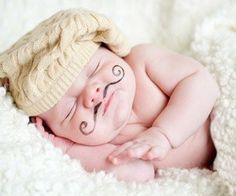 Baby with a mustachio!!