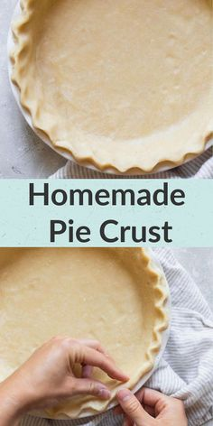 Not sure how to make the perfect pie crust? Live Well Bake Often has an easy tutorial on how to make your own homemade pie crust! This pie crust recipe uses just a few simple ingredients and turns out perfect every time. Be intimidated no longer! You can make your own perfect pie crust today! Easy Pie Crust, Homemade Pie Crusts, Pie Crust Recipes, Tart Recipes, Homemade Desserts, Fun Desserts, Delicious Desserts, Dessert Recipes, Baking Basics