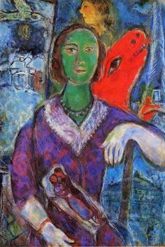 Portrait of Vana, 1966 By Marc Chagall - Oil Paintings, Reproduction Art
