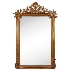Check out this item at One Kings Lane! Antique Giltwood Mirror