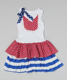This Red & Blue Stars Dress - Infant, Toddler & Girls by Ruby and Rosie is perfect! #zulilyfinds