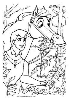 Stained Glass Sleeping Beauty Coloring Sheet by Mandie Manzano