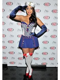 All aboard! This celeb sends sailors off in style as she channels a nautical-inspired pin-up girl.
