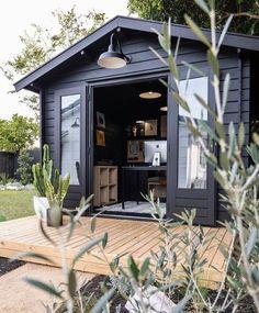 Backyard Office, Backyard Studio, Garden Studio, Small Garden Office, Backyard Barn, Backyard House, Black Barn, Black Shed, She Sheds