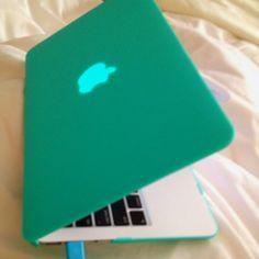 Mac book air turquoise case
