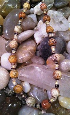 ON SALE Shell and Soapstone Necklace by TripIntoLight on Etsy, $10.00