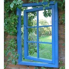 Open Window Illusion Garden Mirror