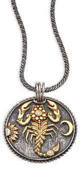 Konstantino Zodiac Diamond Silver Scorpio Pendant #zodiacsign #zodiac #horoscopes