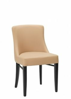 Merano Dining Chair - Contemporary style side chair designed for the restaurant and hotel environment. This chair offers a sweeping curve design with fully upholstered seat and back sections.