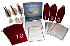 Wine Game Kit All You Need Is Wine A Blind Wine Tasting Party Game *** For more information, visit image link. Wine Tasting Events, Wine Tasting Party, Wine Parties, Wine Games, Types Of Red Wine, Wine Education, Gifts For Wine Lovers, Italian Wine, Wine Making