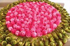 Receita Toalha de Mesa Botões de Rosa