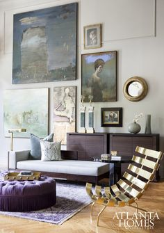 Atlanta Symphony Associates' Decorator Showhouse Tour: Living Room by Smith Boyd via Atlanta Homes | Scotch and Nonsense